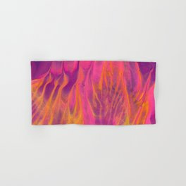 Candy Coated Gold Fire Abstract Painting Hand & Bath Towel