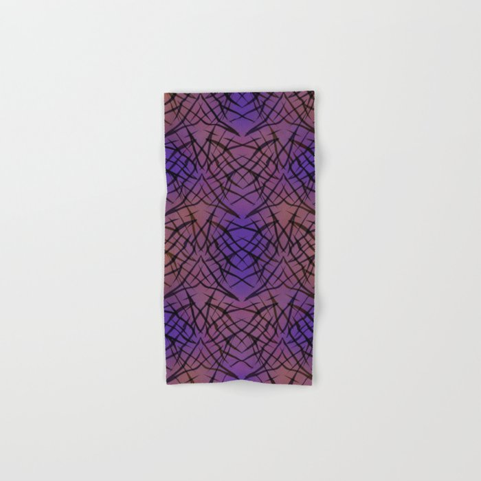 Abstract purple black pattern . Hand & Bath Towel