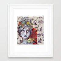 jane davenport Framed Art Prints featuring Nature Study by Jane Davenport by Jane Davenport