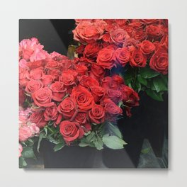 Paris Red Roses Parisian Roses Fleur Prints and Home Decor Metal Print