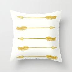 Golden Arrows Throw Pillow