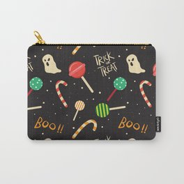 happy halloween candies, ghosts, lollipops and boo pattern Carry-All Pouch