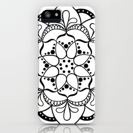 Mandala I - Black and White iPhone Case