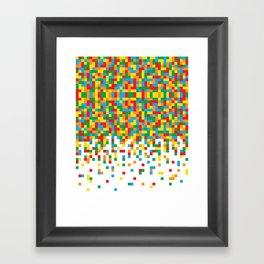 Pixel Chaos Framed Art Print