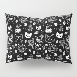Herb Witch // Black & White Pillow Sham