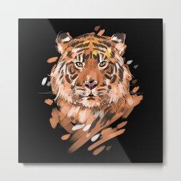 Tiger Big Cats Portrait Metal Print