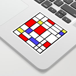 Mondrian #58 Sticker