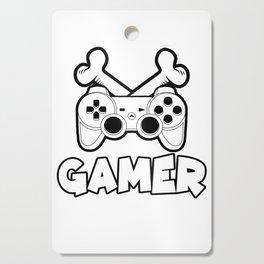 gamer flag bones gamepad online konsole play gift idea Cutting Board