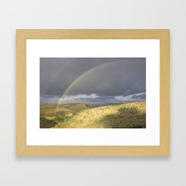 """If you want the RAINBOW you've got to deal with the rain"" Framed Art Print"