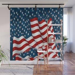 "ORIGINAL  AMERICANA FLAG ART ""STARS N' BARS"" PATTERNS Wall Mural"