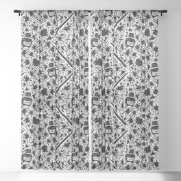 Inktober Pattern Sheer Curtain