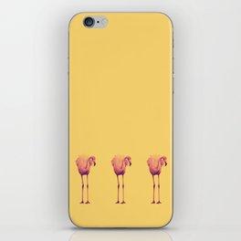 Flamingo Trio (yellow) iPhone Skin