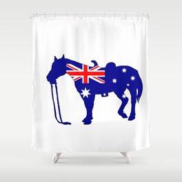 Australian Flag - Horse Shower Curtain