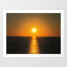 Caribbean Ocean Sunset Art Print