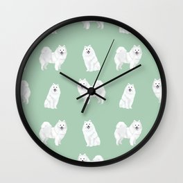 Japanese Spitz pure breed dog pattern pet gifts for dog lovers Wall Clock