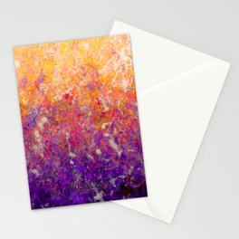 Abstract Art in Sunset Palette Purple Stationery Cards