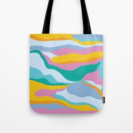 Dreamy Landscape / Colorful Abstraction Tote Bag