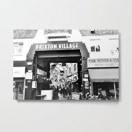 Brixton Village Market Entrance Metal Print