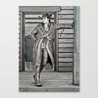 cowboy Canvas Prints featuring Cowboy by Design Windmill