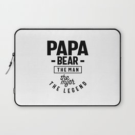 Mens Papa Bear Shirt Gift For Dads & Fathers: The Man Myth Legend Laptop Sleeve