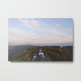 Rushup Edge at sunset. Derbyshire, UK. Metal Print