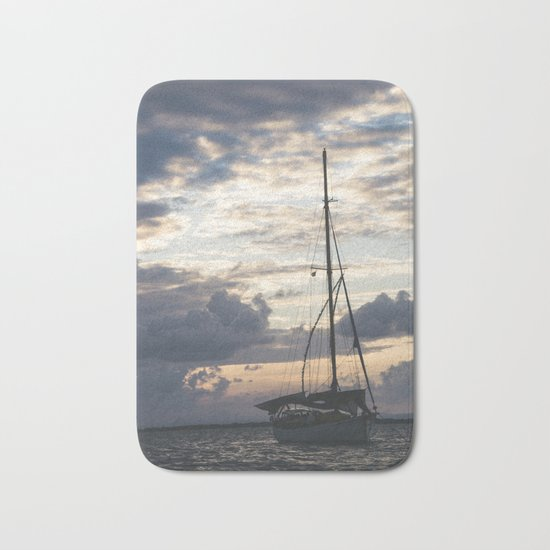 Ship Silhouette Bath Mat