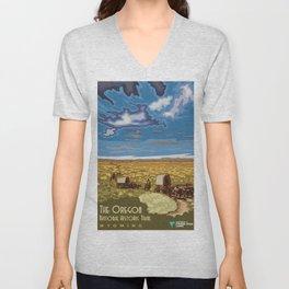 Vintage poster - The Oregon Trail Unisex V-Neck