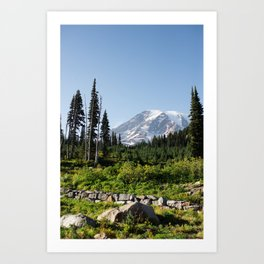 Mount Rainer in the fall. Art Print