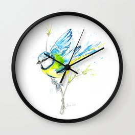 British Birds Series - Blue Tit Wall Clock