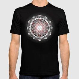 Flower of Life + Metatrons Cube T-shirt