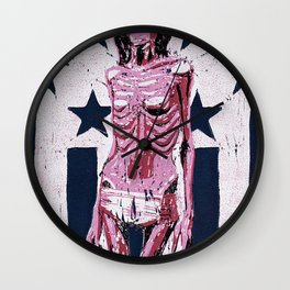 Love In America (Pink) Wall Clock