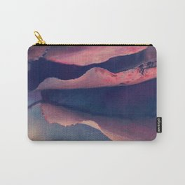 Fall Leaves I - Coral Pink, Red Purple, Blue Violet Carry-All Pouch
