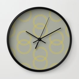 Simply Infinity Link Mod Yellow on Retro Gray Wall Clock