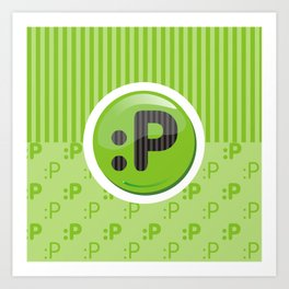 Green Writer's Mood Art Print