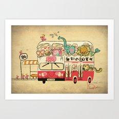 The Childhood Bus Art Print