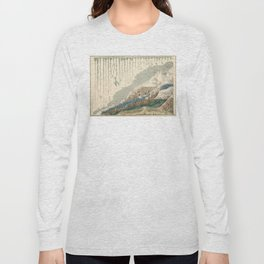 1854 Comparative Lengths of Rivers and Heights of Mountains Long Sleeve T-shirt