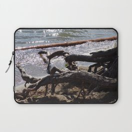 Roots of Huge Old Pine Tree Reaching Into The Lake Laptop Sleeve