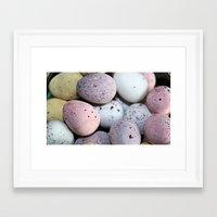 eggs Framed Art Prints featuring Eggs! by Sara Messenger