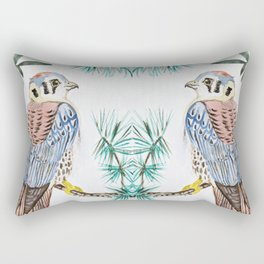 kestrel watercolor Rectangular Pillow