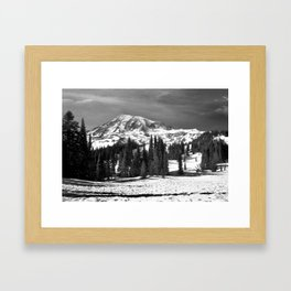 Mt. Rainier B/W fine art print Framed Art Print
