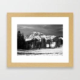 Mt. Rainier B/W fine art print Framed Art Print