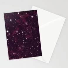 Burgundy Space Stationery Cards