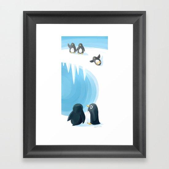 Penguin Playground Framed Art Print