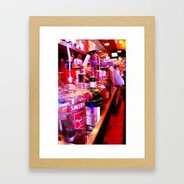 Friday Night Speed Rail Framed Art Print