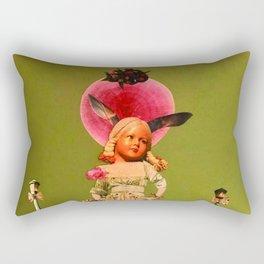 Old animal doll Rectangular Pillow