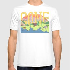 Gone. MEDIUM White Mens Fitted Tee