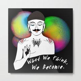 Hipster Buddha Metal Print