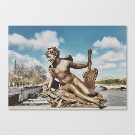 Pont Alexandre III Bridge Paris, France Canvas Print