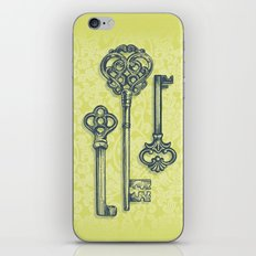 Three Skeleton Keys iPhone & iPod Skin