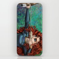 be brave iPhone & iPod Skins featuring Brave by Kimberly Castello